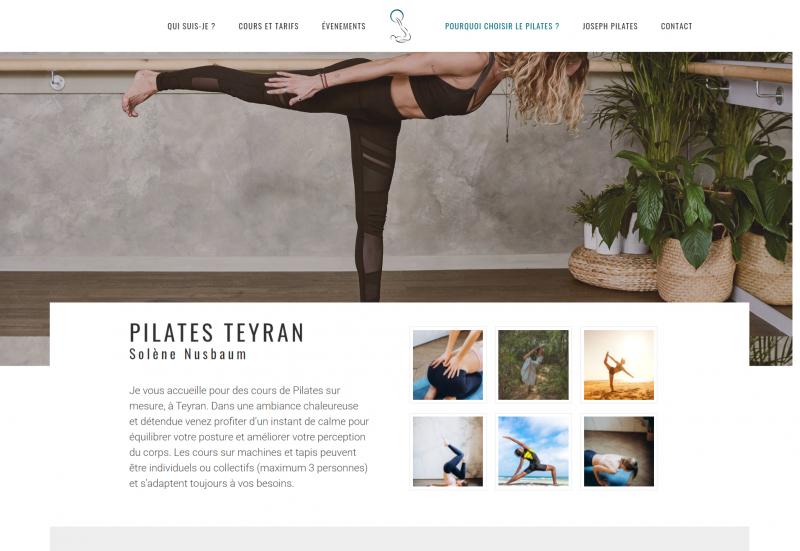 Création site web sopilates montpellier