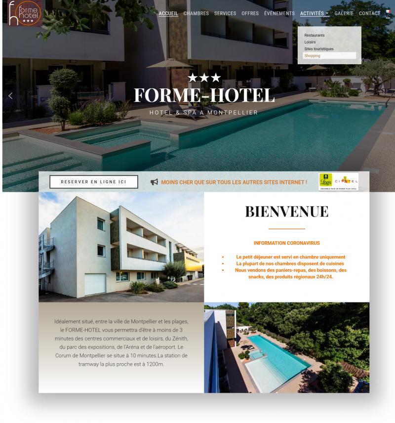 creation site web hotel